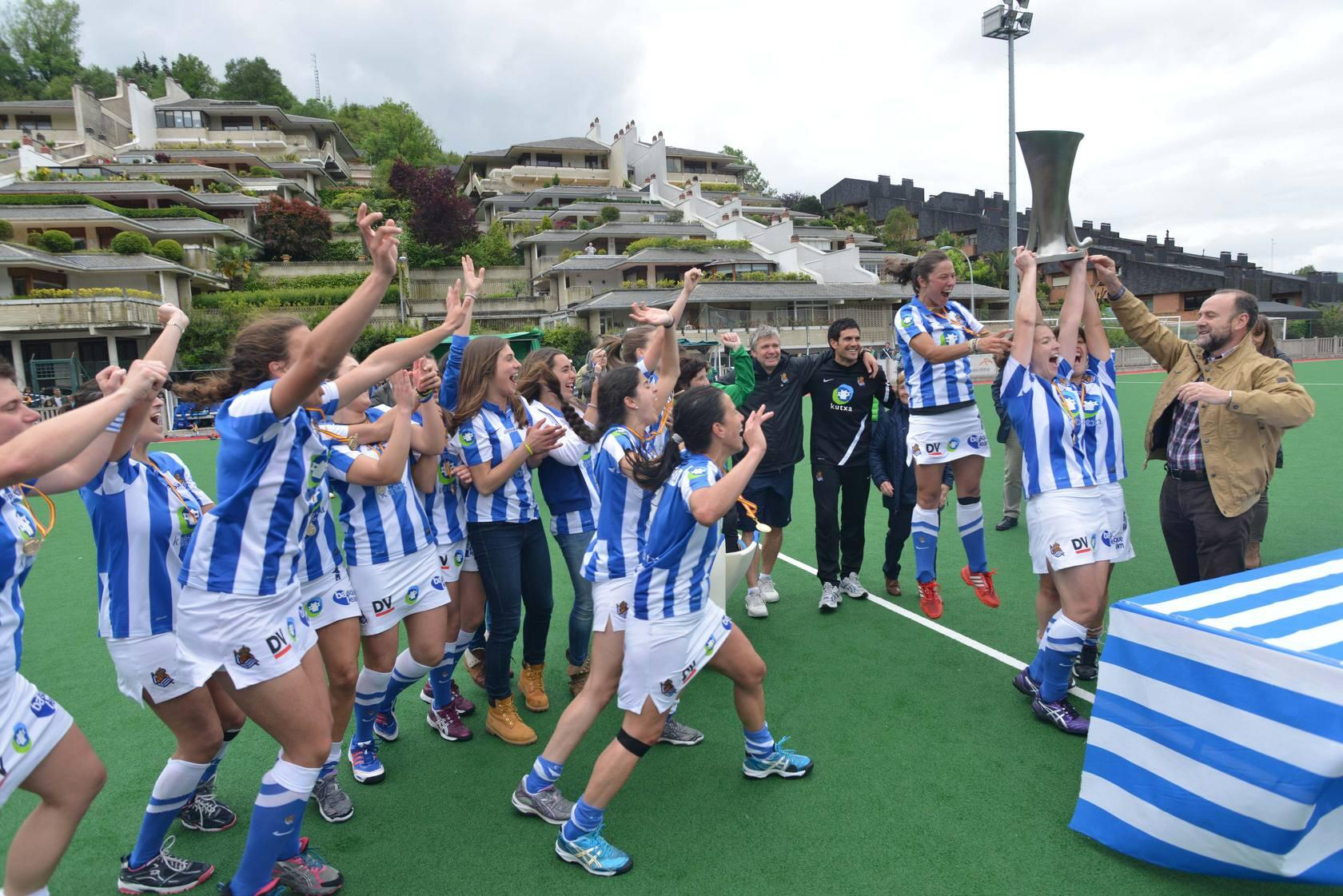 La Real Sociedad de hockey gana su s&eacute;ptima liga