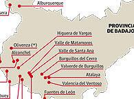 Poblaciones donde está vigente el Fuero de Baylío