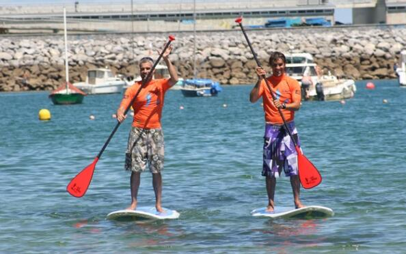 Bautismo stand up padel surf  en Hondarribia