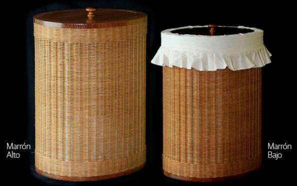 Cesto de ropa ovalado hecho a mano, 4 colores y 2 alturas a elegir