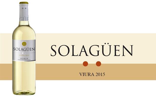 Botella Vino Blanco Solagüen 2015