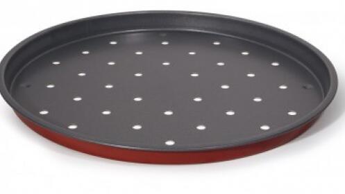 Molde de pizza perforado