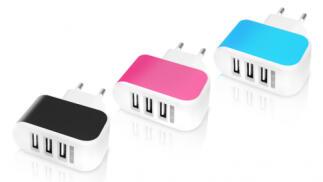 Cargador con 3 salidas USB