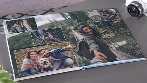 Álbum digital de fotos vertical de tapa dura CEWE