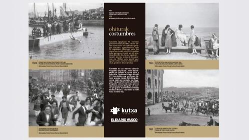Colección completa de 4 puzzles y fotos antiguas de Gipuzkoa