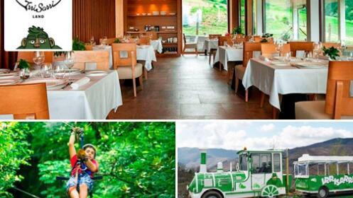 Menú especial en el Palacio Yrisarri + Entrada al parque de Irrisarri Land Baxiko natura