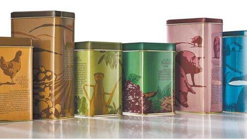Pack de 6 cajas metálicas Eusko Label