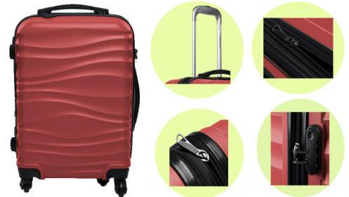 Set de 3 maletas con ruedas multidirección