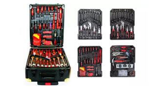 Caja de herramientas profesional 356 piezas de cromo vanadio