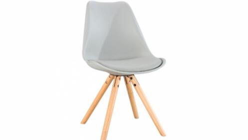 Pack 4 sillas Scandinavia en gris claro