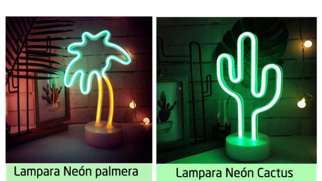 Lámparas neón decorativas