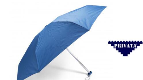 Paraguas Privata, azul y plegable